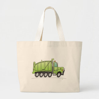 Heavy Duty Dump Truck Green Large Tote Bag
