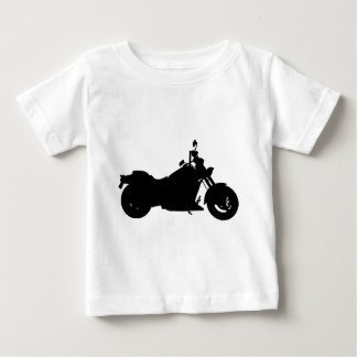 Heavy Duty Motorcycle Silhouette Baby T-Shirt