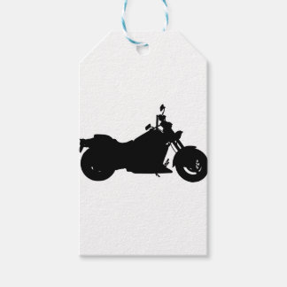 Heavy Duty Motorcycle Silhouette Gift Tags