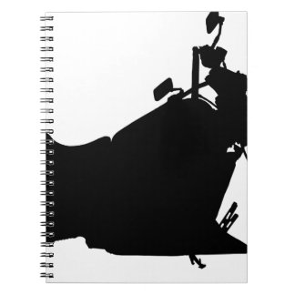 Heavy Duty Motorcycle Silhouette Notebook