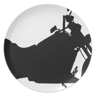 Heavy Duty Motorcycle Silhouette Plate