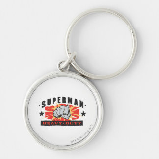 Heavy Duty Silver-Colored Round Keychain