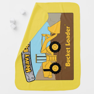Heavy Equipment Bucket Loader Baby Blanket