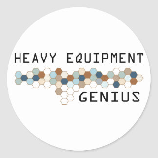 Heavy Equipment Genius Round Sticker