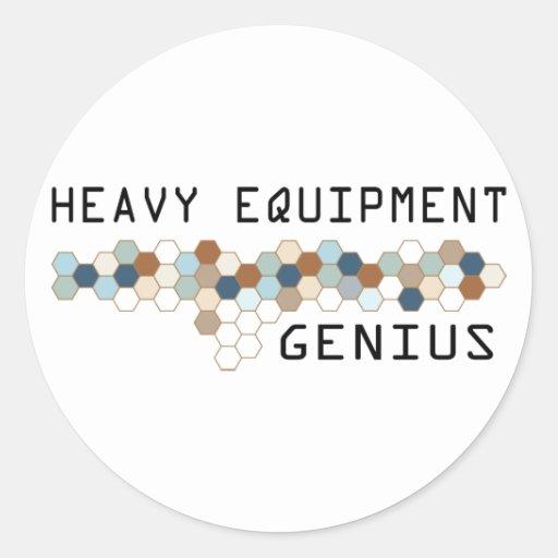 Heavy Equipment Genius Round Sticker