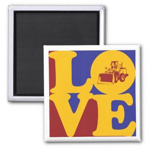 Heavy Equipment Love Refrigerator Magnet