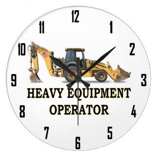 HEAVY EQUIPMENT OPERATOR LARGE CLOCK