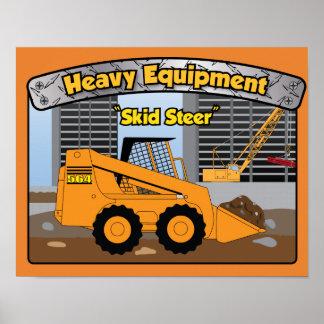 Heavy Equipment Skid Steer baby poster