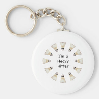 Heavy Hitter Badminton Keychain