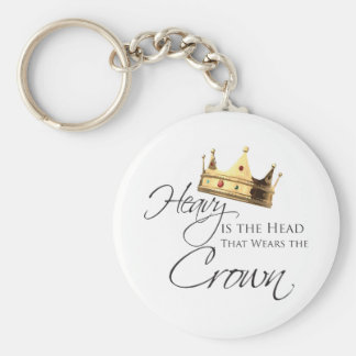 Heavy is the Head that Wears the Crown Keychain