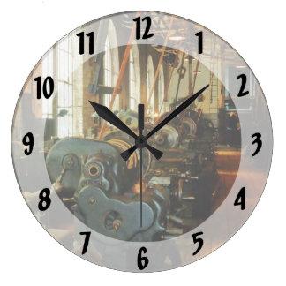Heavy Machine Shop Large Clock
