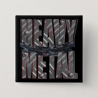 heavy metal 2 inch square button