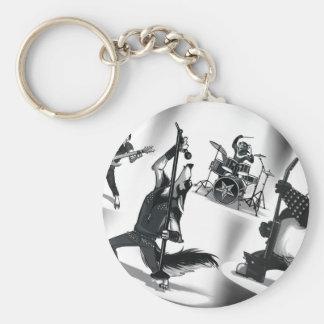 Heavy Metal Band Basic Round Button Keychain
