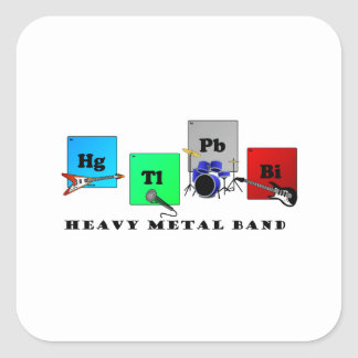 Heavy Metal Band Square Sticker