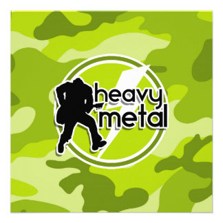 Heavy Metal bright green camo camouflage Custom Announcement