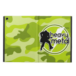 Heavy Metal bright green camo camouflage Cover For iPad Air