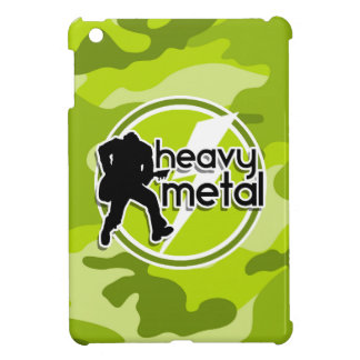 Heavy Metal bright green camo camouflage iPad Mini Covers