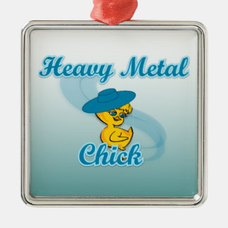 Heavy Metal Chick #3 Metal Ornament