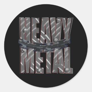 heavy metal classic round sticker