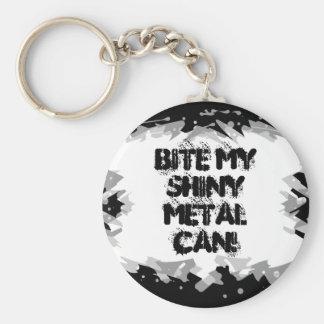 Heavy Metal Grunge Rock Design Basic Round Button Keychain