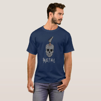 Heavy Metal Guitar Skull Music T-Shirt