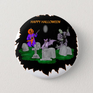 Heavy Metal Halloween 2 Inch Round Button