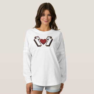 Heavy Metal Heart Women's Spirit Jersey Shirt