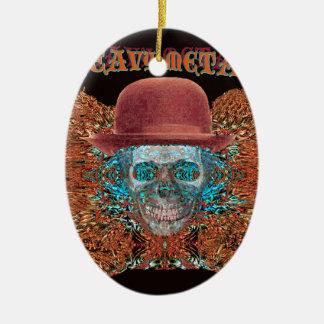 heavy metal large. ceramic ornament