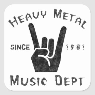 Heavy Metal Music Department Square Sticker