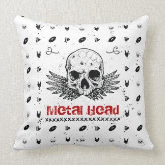 "Heavy Metal Music ""Metal Head"" Pillow"