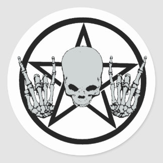Heavy Metal Pentagram Sticker Stickers
