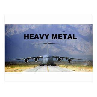 heavy metal plane postcard