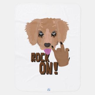 Heavy metal Puppy rock on Baby Blanket