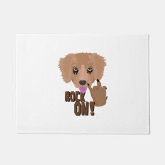 Heavy metal Puppy rock on Doormat