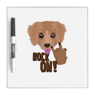 Heavy metal Puppy rock on Dry Erase Board