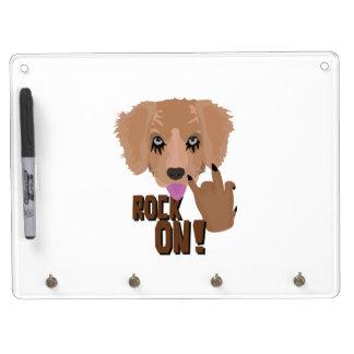 Heavy metal Puppy rock on Dry Erase Whiteboard