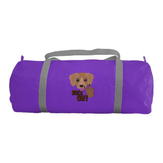 Heavy metal Puppy rock on Gym Bag