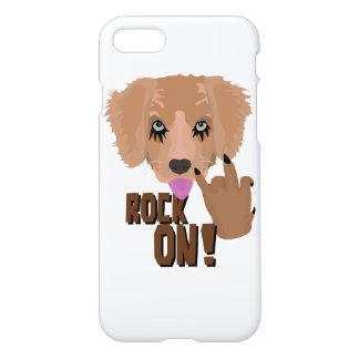 Heavy metal Puppy rock on iPhone 7 Case