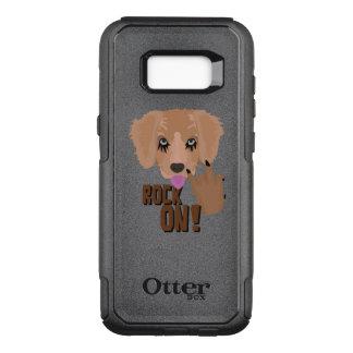 Heavy metal Puppy rock on OtterBox Commuter Samsung Galaxy S8+ Case