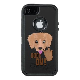 Heavy metal Puppy rock on OtterBox iPhone 5/5s/SE Case