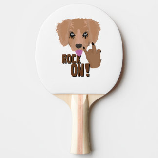 Heavy metal Puppy rock on Ping-Pong Paddle