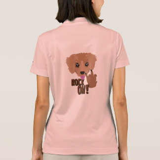 Heavy metal Puppy rock on Polo Shirt