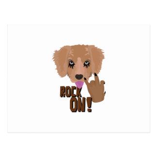 Heavy metal Puppy rock on Postcard