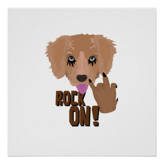 Heavy metal Puppy rock on Poster