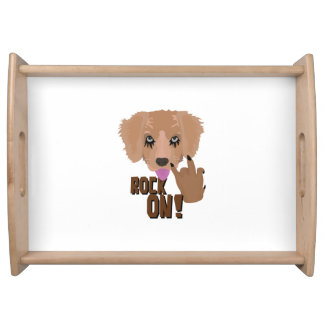 Heavy metal Puppy rock on Serving Tray