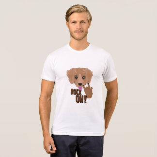 Heavy metal Puppy rock on T-Shirt
