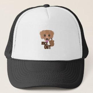 Heavy metal Puppy rock on Trucker Hat