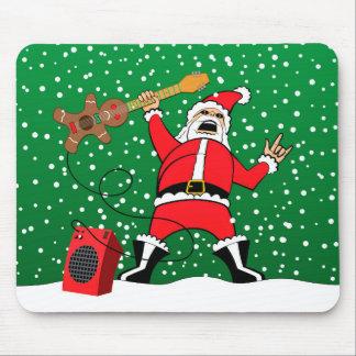 Heavy Metal Santa Mouse Pad