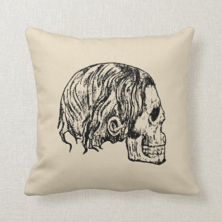 Heavy Metal Skull Pillow
