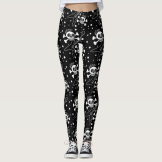 Heavy Metal Skulls Leggings